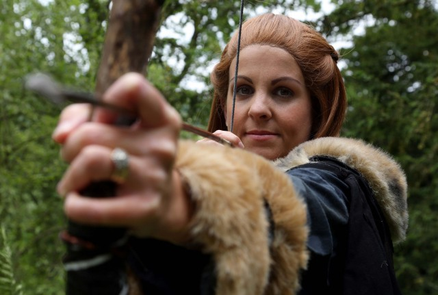 Carey McKeown in costume as Ygritte
