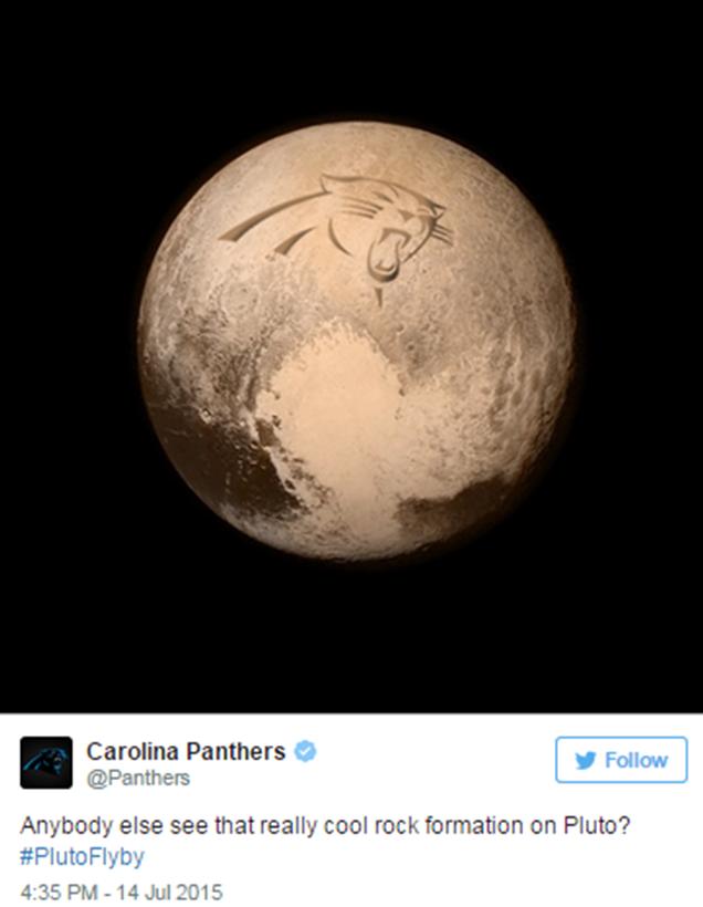 Carolina Panthers Pluto