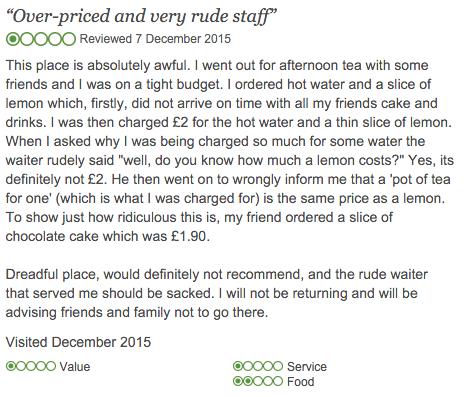 Over-priced and very rude staff - Bennett's Cafe   Bistro, York Traveller Reviews - TripAdvisor